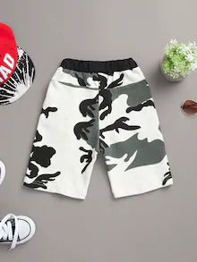Toddler Boys Drawstring Waist Camo Shorts
