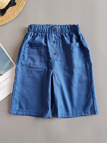 Toddler Boys Dual Pocket Bermuda Shorts