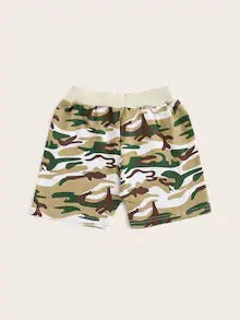 Toddler Boys Knot Front Camo Bermuda Shorts