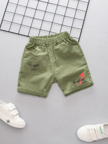 Toddler Boys Letter Print Shorts