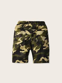 Toddler Boys Letter Tape Camo Shorts