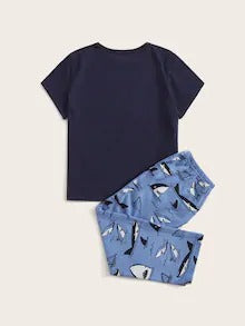 Toddler Boys Shark Print Pajama Set