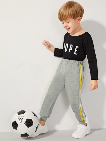 Toddler Boys Side Tape Elastic Waist Sweatpants