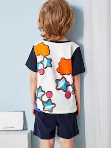 Toddler Boys Star Print Pajama Set