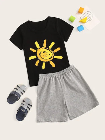 Toddler Boys Sun Print Pajama Set