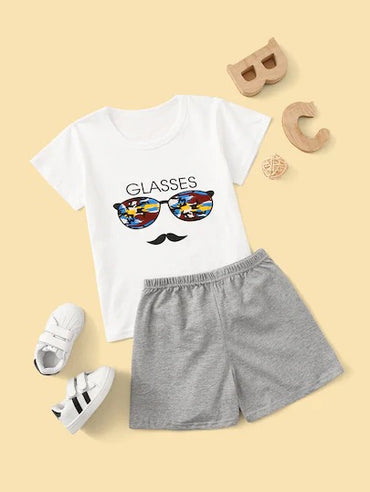 Toddler Boys Sunglass Print Pajama Set
