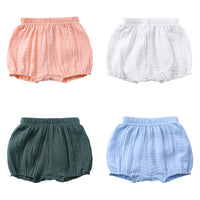 Solid Color Girl Cotton Linen Bread Short
