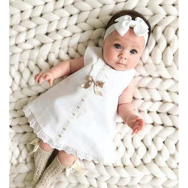 Newborn Baby Girls Maxi Dress with Headbands
