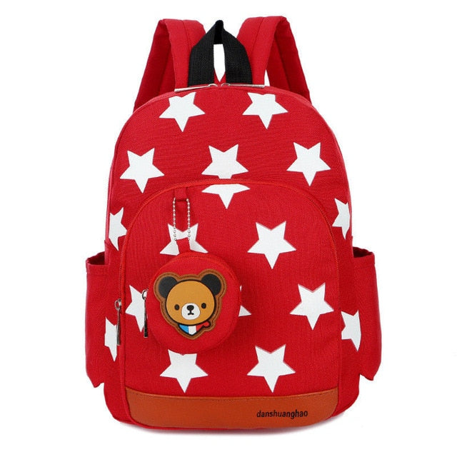 Rucksack School Bag Personalised Star Pattern Zipper Kid Book Bag