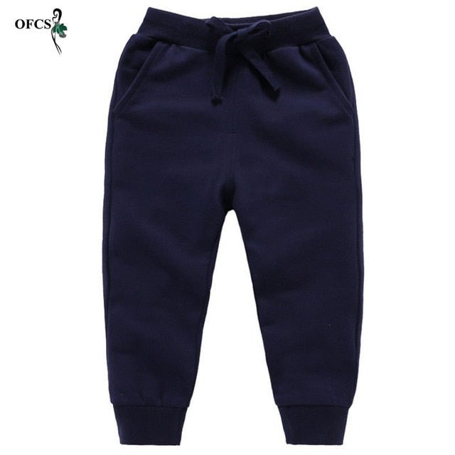 New Warm Velvet Joogings Pants For 2-10 Yeas Boys