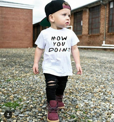 Baby Girls Tshirt Boy Summer Short-Sleeved Casual T-shirts