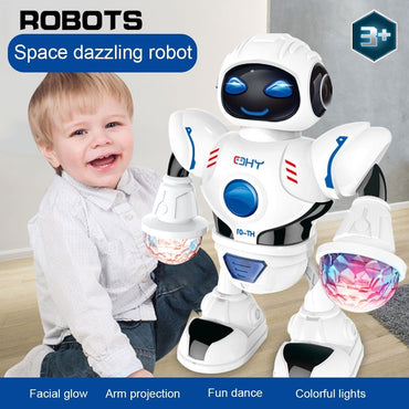 New Space Dazzling Music Robot Shiny Educational Toys