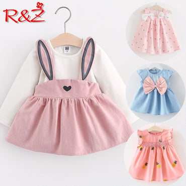 Baby Girl Long Sleeve Fashion Cotton Dress