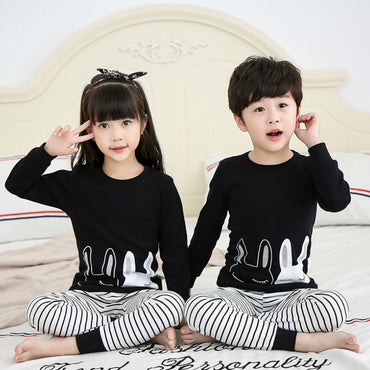 Children Sleepwear Boys Girls Pajamas Sets 100% Cotton