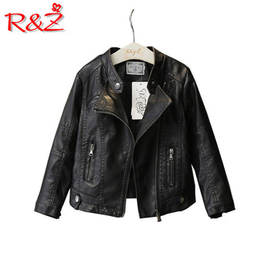New Fashion   The Wind PU Leather Leather Coat Baby Boys