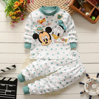 Baby Kids unisex clothing set cotton 2PCS cute cartoon suit set for boy and girl