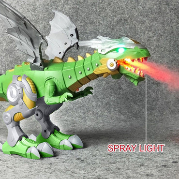 Electric Toy Large Size Walking Dragon Toy Fire Breathing Water Spray