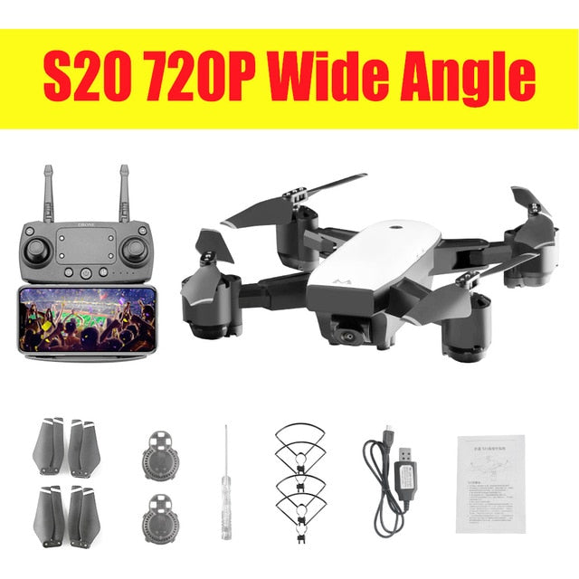 S20 Drone With HD 1080P Wifi Camera Quadrocopter Hovering FPV Quadcopters