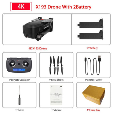 X193 Brushless GPS Drone 5G Wifi FPV RC Helicopter