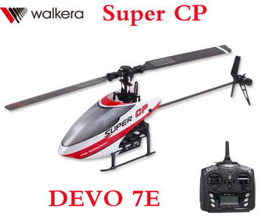 Original Walkera Super CP with DEVO 7E Transmitter 6CH Flybarless 3D RC Helicopter
