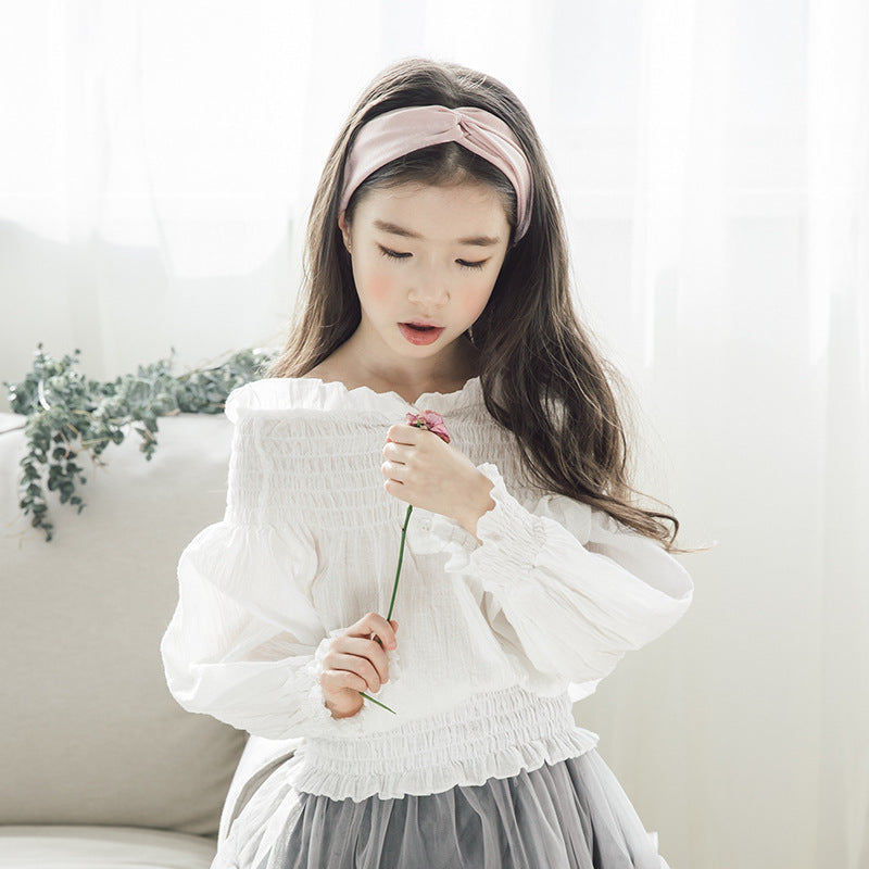 Toddler Girls Fashion Long Sleeve Ruffle Tops Blouse
