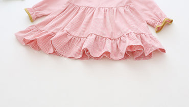Cute long sleeve cotton baby girl party princess dress