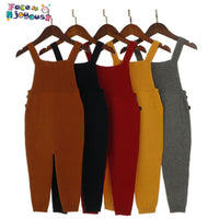 Overalls Harem Pants Boys Pocket Knitted Overalls Jumpsuits