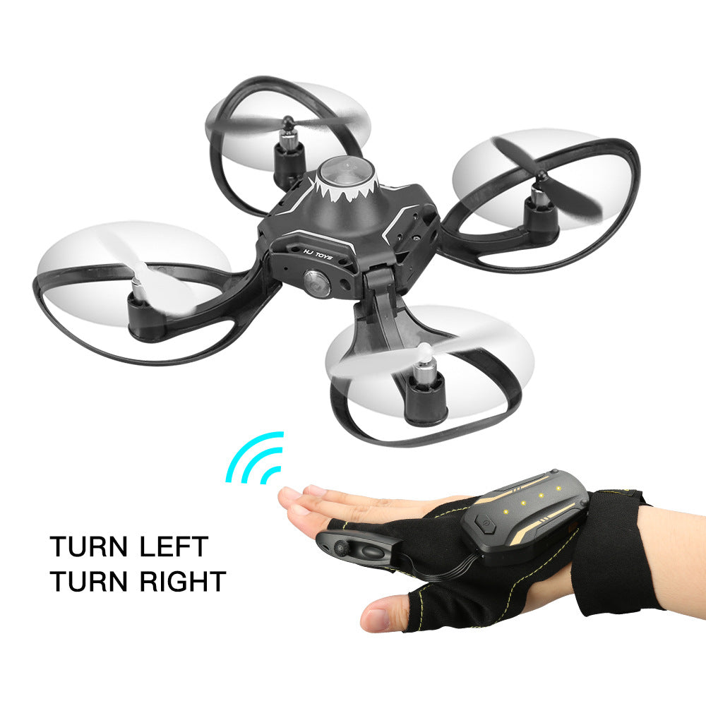 Mini Foldable Glove Hand Sensor Wifi Control RC Helicopter Toys