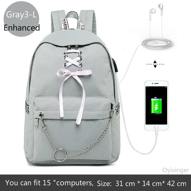 Fashion Girl Schoolbag  Students Laptop Backpack Kids School Bags
