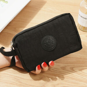 Three-Layer Zipper Coin Card Key Purse