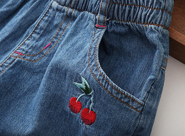 Lovely Fashion Girls Soft Denim Pocket Short