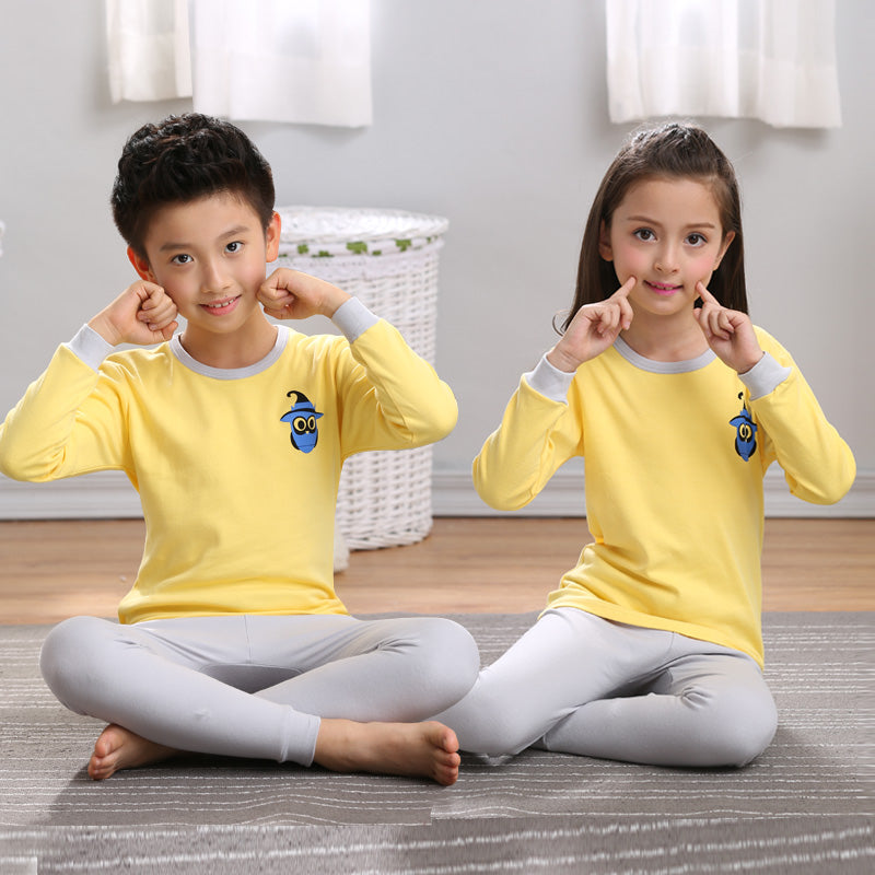 Cute Cartoon Boy and Girl cotton pajamas set