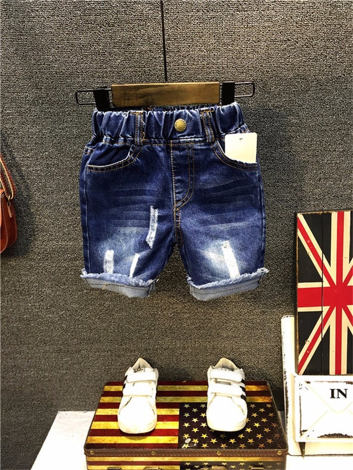 Fashion Style Boy Panties Hole Casual Jeans Shorts