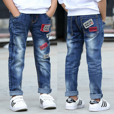 Classic soft denim boy patch jeans