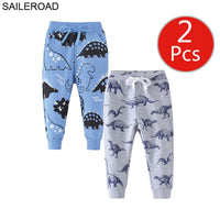 2pcs Cartoon Hug Me Dinosaur Pants For Boy