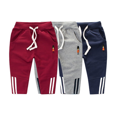 Breathable Boy Sports Pattern Casual Cotton Boy Pants