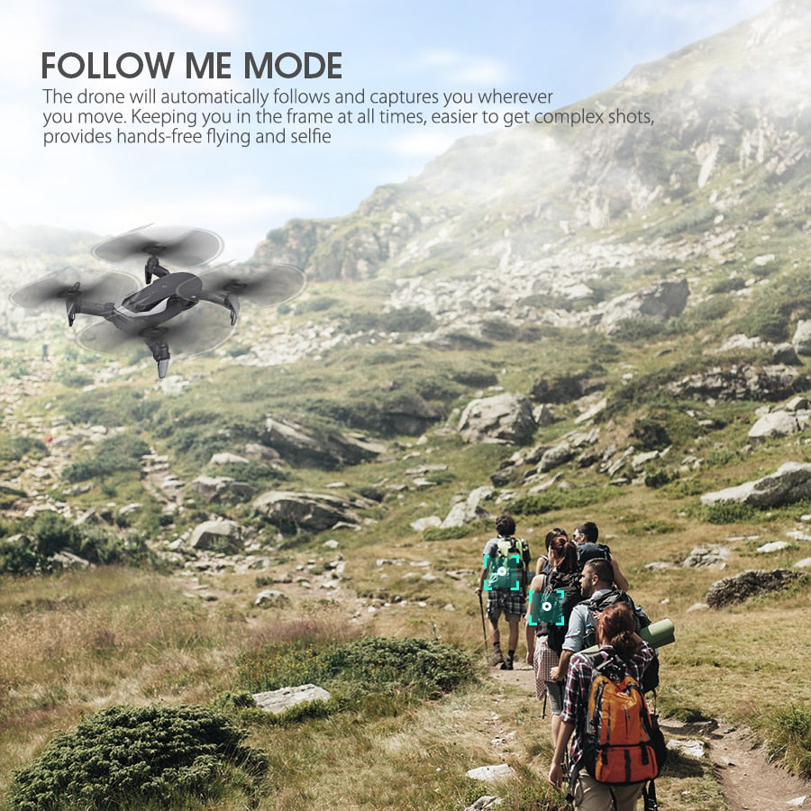 E511S 2.4G 4CH GPS 6-axis gyro Dynamic Follow WIFI FPV With 1080P Camera
