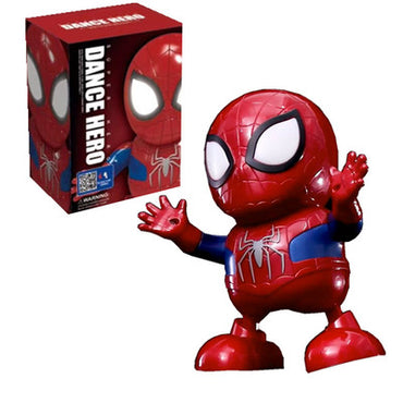 Dance Iron Man Spider Man Avengers Action Figure Toy LED Flashlight