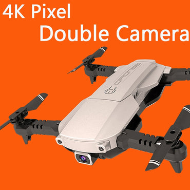 Mini Foldable WIFI FPV With Wide Angle 4K pixel HD double Camera Drone