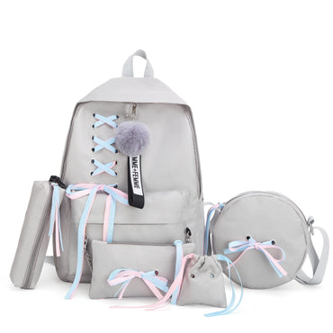 Teenage Solid Backpack College Schoolbag