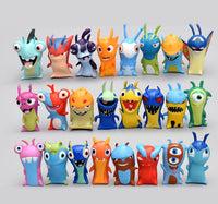 24 Pcs/set anime Slugterra action figure toys 5cm mini monster animal