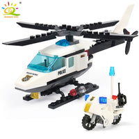 City Police Helicopter Airplane Blocks Building Blocks Legoingly City
