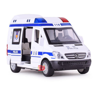 1:32 Alloy Ambulance Police Cars Diecasts & Toy Vehicles