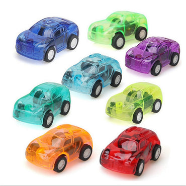 1PC Move Transparent Car Toy Pull Back