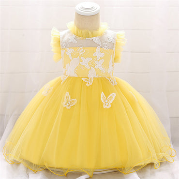 Baby Girl Lace Vestido Birthday Party Princess Dress