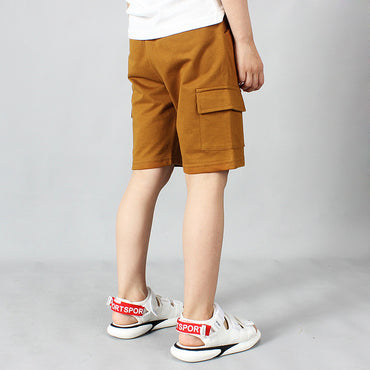 Hot Selling Boy Casual Letter Printed Soft Cotton Stretch Short