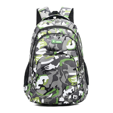 Backpack Kids Book Bag Camouflage Waterproof School Bags