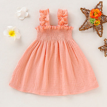 Baby Girl Sleeveless Backless Vest Sling Dress