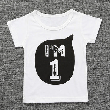 Clothing Summer Boys Girls T-Shirts Letter Printed Tops