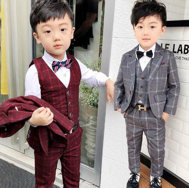 Summer Formal kids boys suits  baby boy clothes suit